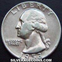 1953 United States Washington Silver Quarter