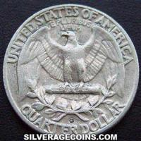 1956D United States Washington Silver Quarter