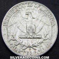 1959D United States Washington Silver Quarter