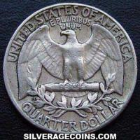 "1961 United States ""Washington"" Silver Quarter Dollar"