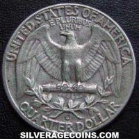 1963D United States Washington Silver Quarter