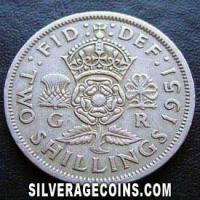 1951 George VI British 2 Shillings (Florin)