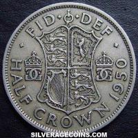 1950 George VI British Half Crown