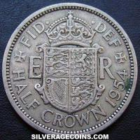 1954 Elizabeth II British Half Crown