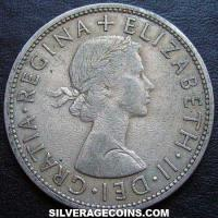 1956 Elizabeth II British Half Crown