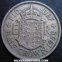 1958 Elizabeth II British Half Crown