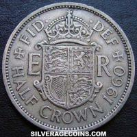 1960 Elizabeth II British Half Crown