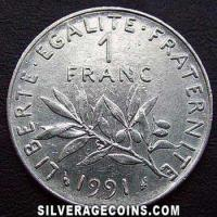 1991 French New Franc