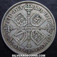 1932 George V British Silver Florin (2 Shillings)