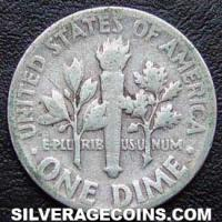 1952 United States Silver Roosevelt Dime 10 Cents