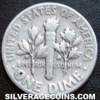 1956 United States Silver Roosevelt Dime 10 Cents