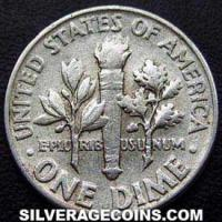 1960 United States Silver Roosevelt Dime 10 Cents