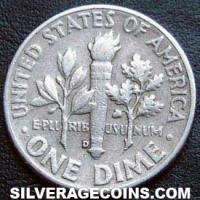 1958D United States Silver Roosevelt Dime 10 Cents