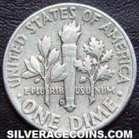 1961D United States Silver Roosevelt Dime 10 Cents