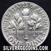 1962D United States Silver Roosevelt Dime 10 Cents