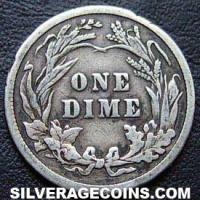 "1906 United States ""Barber Dime"" Silver 10 Cents"