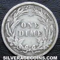 "1907 United States ""Barber Dime"" Silver 10 Cents"
