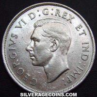 1940 George VI Canadian Silver 50 Cents