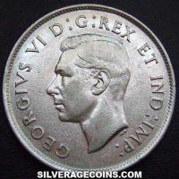 1941 George VI Canadian Silver 50 Cents