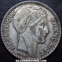 1933(sl) French Silver 20 Francs