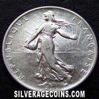 1915 French Silver 2 Francs