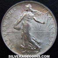 1920 French Silver 2 Francs