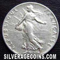 1919 French Silver 50 Cents