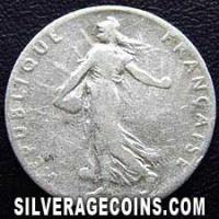 1909 French Silver 50 Cents
