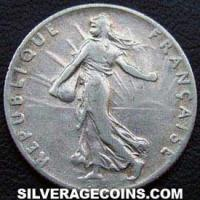 1913 French Silver 50 Cents