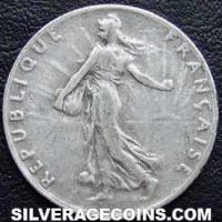 1916 French Silver 50 Cents