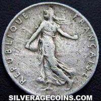 1918 French Silver 50 Cents