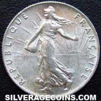 1920 French Silver 50 Cents