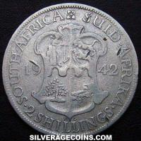 1942 George VI South African Silver 2 Shillings