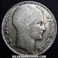 1931 French Silver 10 Francs