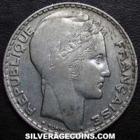 1933 French Silver 10 Francs