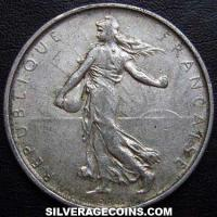 1962 French Silver 5 New Francs