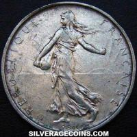 1963 French Silver 5 New Francs