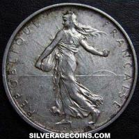 1964 5 French Silver New Francs