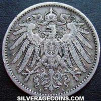 1900 A Wilhelm II German Silver Mark