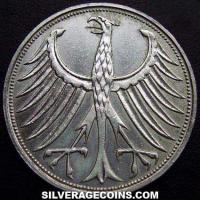 1967J German Federal Republic Silver 5 Marks