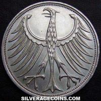 1968F German Federal Republic Silver 5 Marks