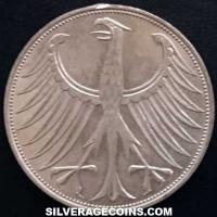 1974 D German Federal Republic Silver 5 Marks