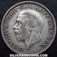 1926-6F George V British Silver Shilling (type 3)