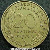 1970 20 French Centimes
