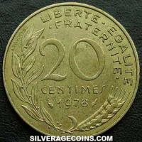1978 20 French Centimes