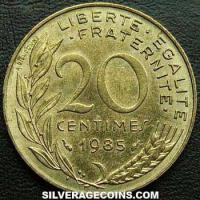 1985 20 French Centimes