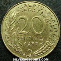 1987 20 French Centimes