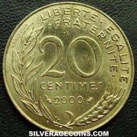 2000 20 French Centimes