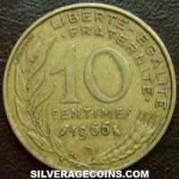 1966 10 French Centimes