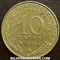 1975 10 French Centimes